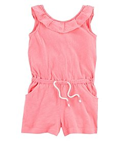 Carter's Girls' 2T-5T Romper With Ruffle Neckline