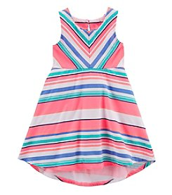 Carter's Girls' 2T-5T Striped High-Low Jersey Dress