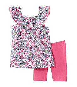 Carter's Girls' 4-8 Medallion Print Top And Shorts Set