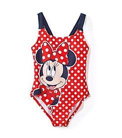 b2708a6e753 Disney Girls' 4-6x Minnie Mouse Polka Dot One Piece Swimsuit