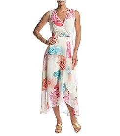 ed2a5917cb Calvin Klein Floral Chiffon Swing Dress