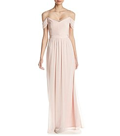 Adrianna Papell Tulle Draped Dress