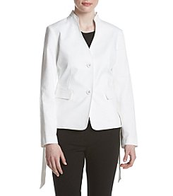 Nine West Tie Side Button Front Jacket