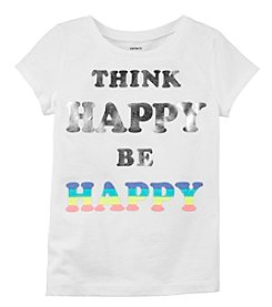 Carters Girls' 4-8 Short Sleeve Think Happy Be Happy Tee
