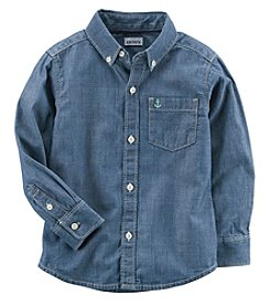 Carter's Boys' 2T-8 Long Sleeve Chambray Button Up Top