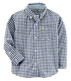Carter's Boys' 2T-8 Long Sleeve Gingham Button Up Top