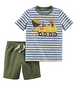 Carter's Boys' 2T-5T 2 Piece Jersey Top and French Terry Short Set