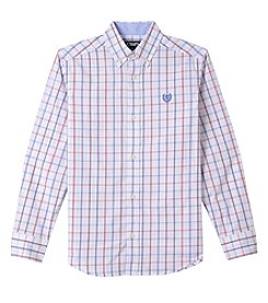 Chaps Boys' 4-20 Issac Woven Long Sleeve Button Down Shirt