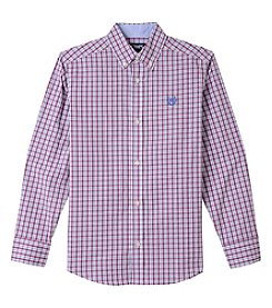 Chaps Boys' 4-20 Will Woven Long Sleeve Button Down Shirt
