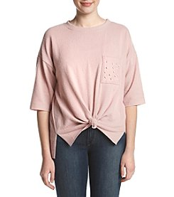 Skylar   Jade by Taylor   Sage Faux Pearl Detailed Pullover Sweater e66a563cc