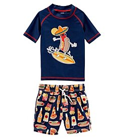 Carter's Boys' 2T-5T 2-Pc. Food Rashguard And Swim Trunk Set