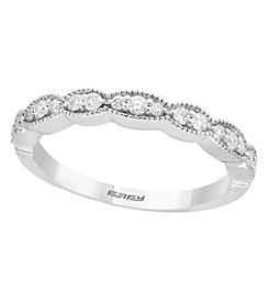 Effy 14K White Gold 0.22 Ct. T.w. Diamond Band Ring