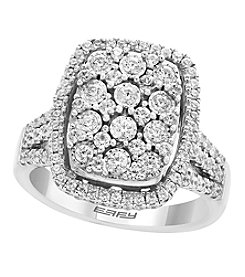 Effy Sterling Silver 1.05 Ct. T.w. Diamond Ring