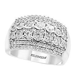 Effy Sterling Silver 0.75 Ct. T.w. Diamond Ring