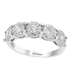 Effy 14K White Gold 0.98 Ct. T.w. Diamond Band Ring