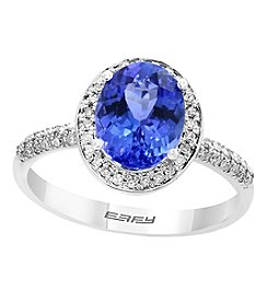 Effy 14K White Gold 0.21 Ct. T.w. Diamond And Tanzanite Ring