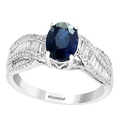 Effy 14K White Gold 0.55 Ct. T.w. Diamond Sapphire Ring