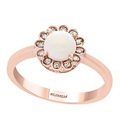 Effy 14K Rose Gold 0.05 Ct. T.w. Diamond Opal Ring