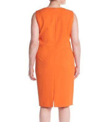 c9eac237f2a Kasper Plus Size Cutout Front Detail Shift Dress