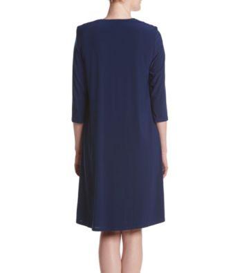 R\u0026M Richards Pleated Pattern Dress