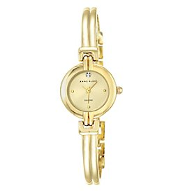 Anne Klein Women's Goldtone Bangle Watch with Diamond Dial Accent