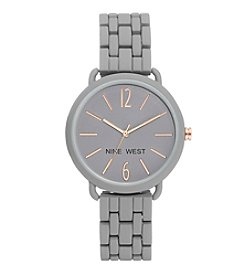 Nine West Women's Asmida Rubberized Bracelet Watch
