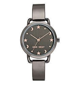 Nine West Women's Star And Moon Accent Bangle Watch
