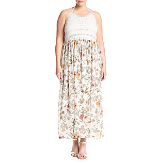 7dde94f92 Skylar & Jade by Taylor & Sage Plus Size Halter Maxi Dress | Boston Store