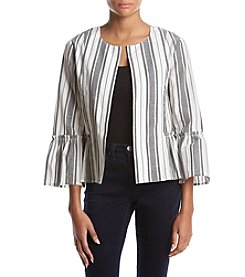 August Silk Striped Bell Sleeve Jacket