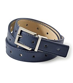 Fashion Focus Tumbled End Perforated Reversible Belt