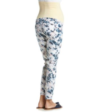 f24fa88091e9f Flutter & Kick Maternity Floral Printed Ankle Pants