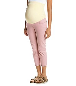 Flutter & Kick Maternity Fray Hem Twill Crop Pants
