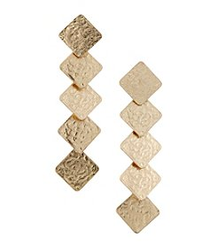 Canvas Linear Hammered Earrings