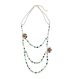 Relativity Layered Bead And Shell Necklace