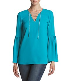 MICHAEL Michael Kors Bell Sleeve Chain Top