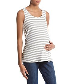 Flutter & Kick Maternity Stripe Ruched Tank Top