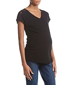 Flutter & Kick Maternity Dolman Lace V-Neck Top