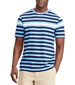Chaps Men's Short Sleeve Engineered Stripe Crew Neck Tee