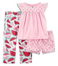 Carter's Girls' 2T-16 3-Pc. Watermelon Pajama Set