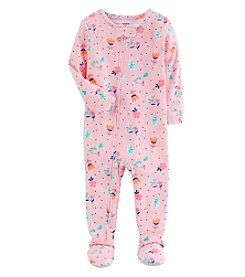 Carter's Baby Girls' One Piece Neon Floral Sung Fit Cotton Pajamas