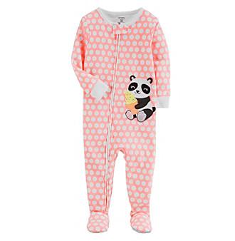 d9d2a040f Carter s Baby Girls  One Piece Neon Panda Snug Fit Cotton Pajamas ...
