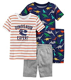 Carter's Boys' 4-Pc. Dinosaur Snug Fit Cotton Pajama Set