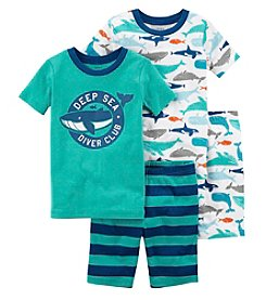 Carter's Boys' 4-Pc. Whale Snug Fit Cotton Pajama Set