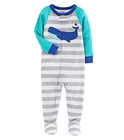 Carter's Baby Boys' One Piece Whale Snug Fit Cotton Pajamas
