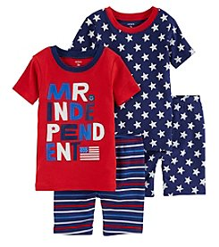 Carter's Baby Boys' 4-Pc. American Flag Snug Fit Cotton Pajama Set