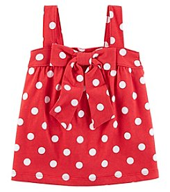 Carter's Girls' 2T-8 Polka Dot Bow Tank Top