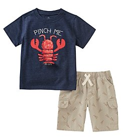 Kids Headquarters Boys' 2T-7 Lobster Tee With Shorts Set