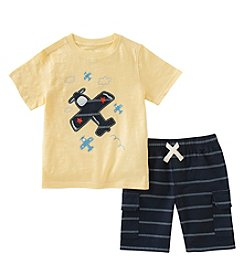 Kids Headquarters Boys' 2T-7 Airplane Tee With Shorts Set