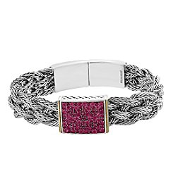 Effy 925 Sterling Silver & 18K Yellow Gold 2.30 CT TW Ruby  Bracelet