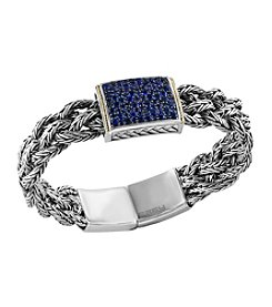 Effy 925 Sterling Silver & 18K Yellow Gold 2.30 CT TW Sapphire Bracelet